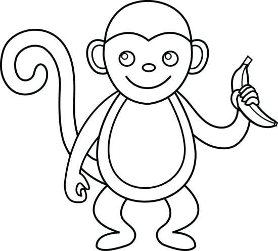 550x496 Cute Monkey Drawing