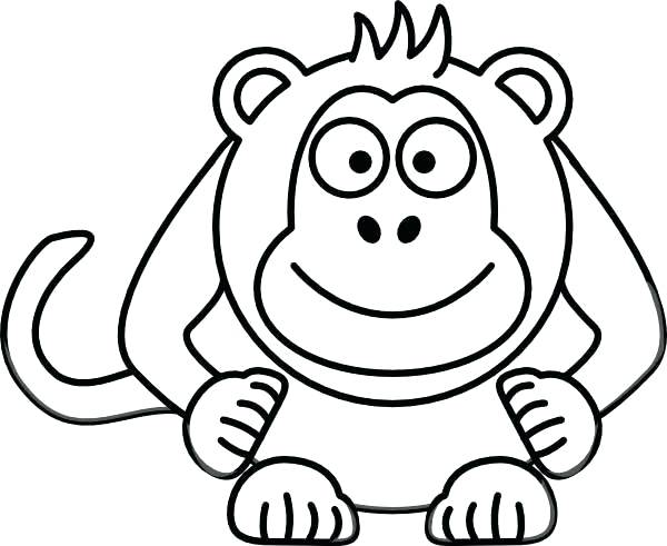 600x491 Monkey Coloring Pages