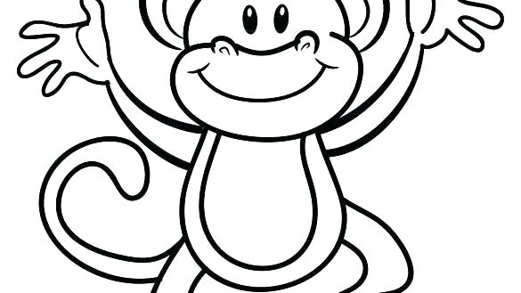 585x329 coloring pages of a monkey cute color printable medium sock p sock