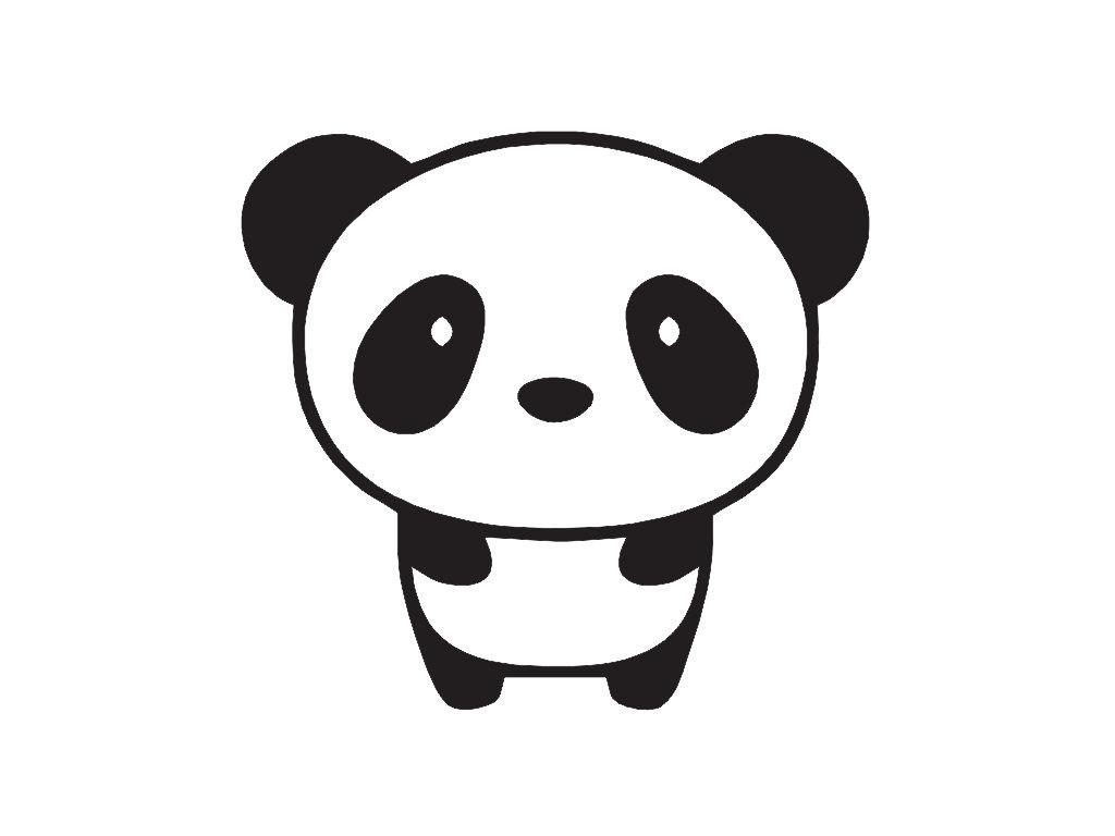 1024x768 Cute Panda Drawings Easy Draw A Clipart Cool Cartoon Pencil