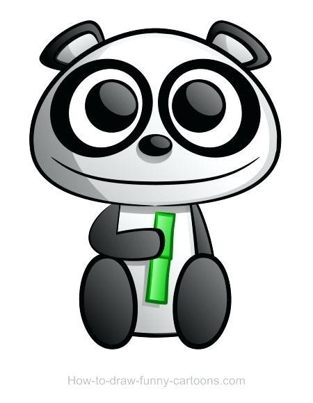 450x580 Easy Drawing Panda Panda Drawing Cute Simple Panda Drawing