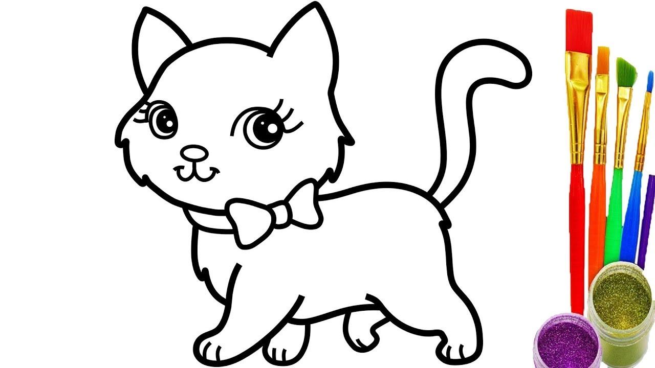 1280x720 Cat Drawings Crazy Bucket Baby Simple Cute Pencil Aristocats