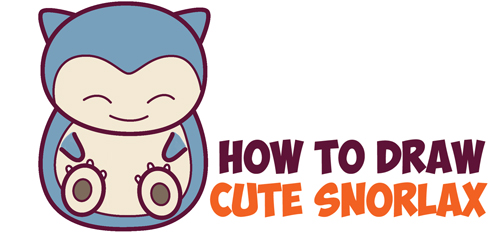 500x232 How To Draw Cute Snorlax