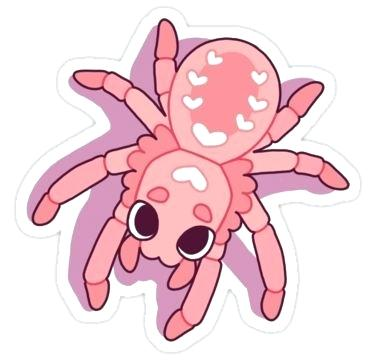 375x360 Cute Spider Drawing