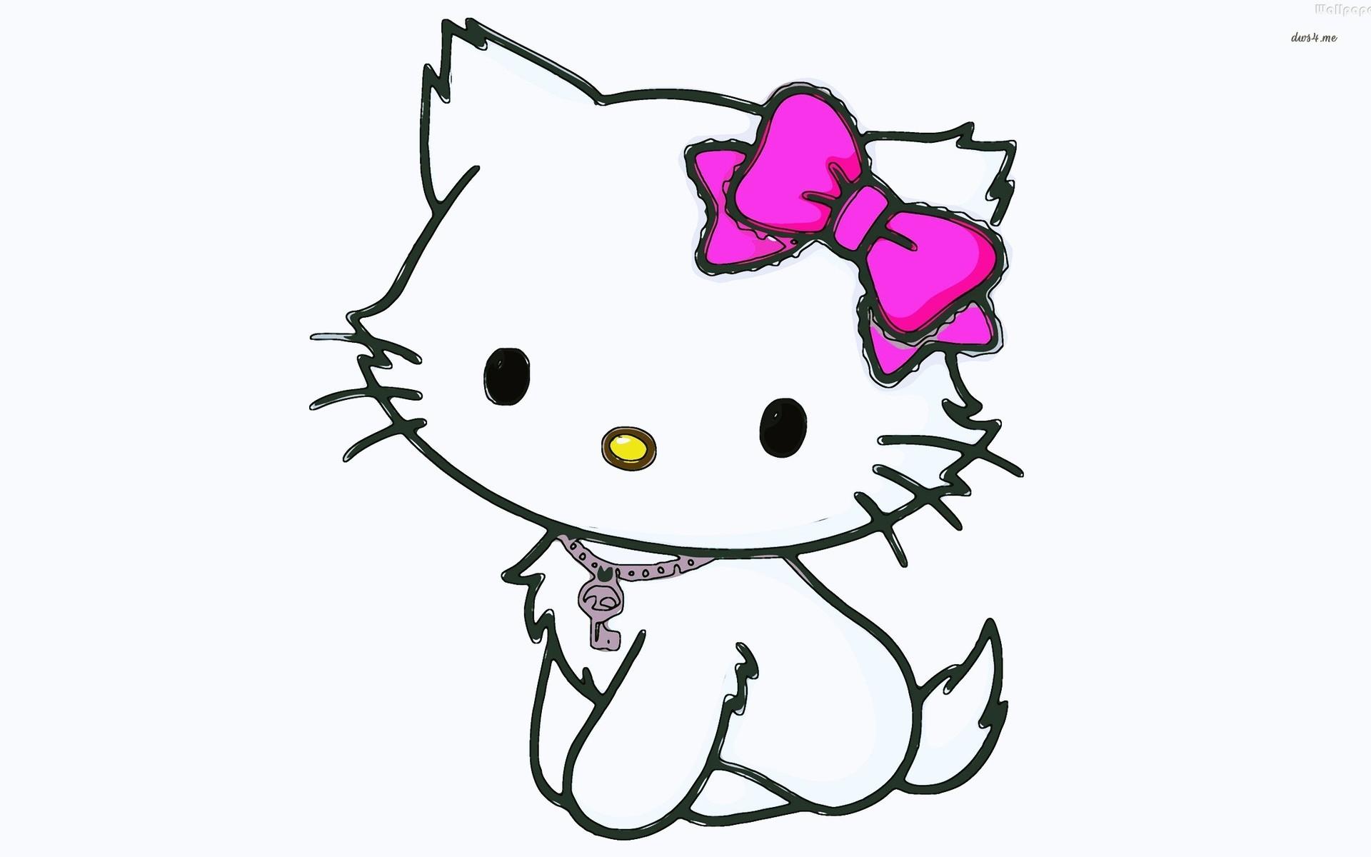 1920x1200 Cute Hello Kitty Drawing Wallpaper