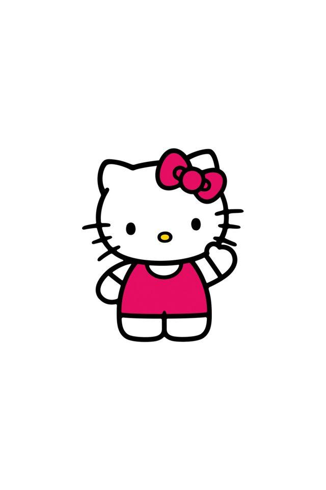 640x960 Hello Kitty Art Cute Logo Minimal Iphone Wallpaper