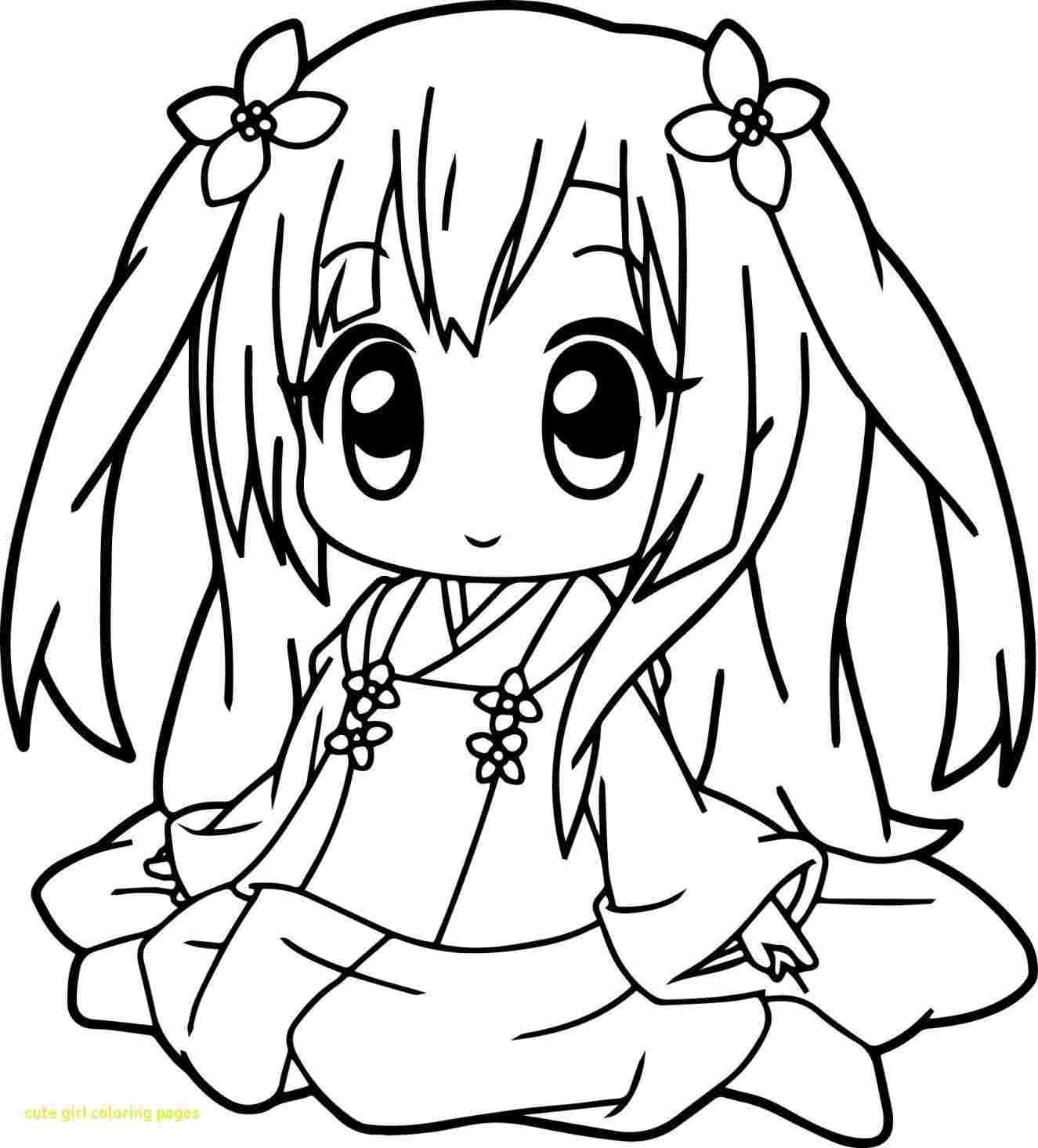 1325x1465 Anime Girl Cute Drawing Color