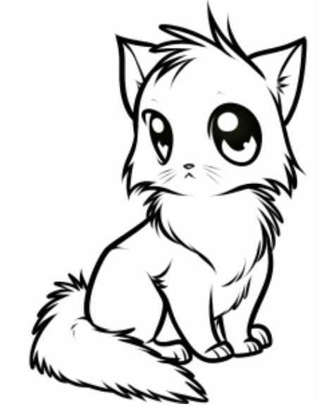 477x583 How To Draw Anime Cat Picture Katlaboard