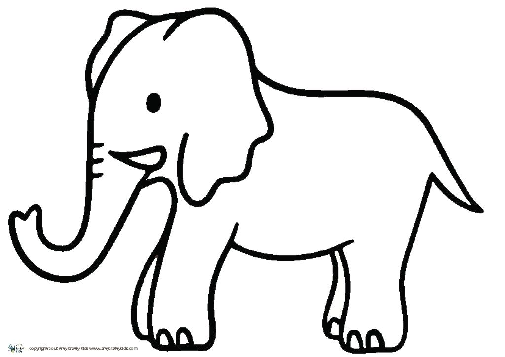 1024x724 outline elephant elephant simple outline drawing cute elephant