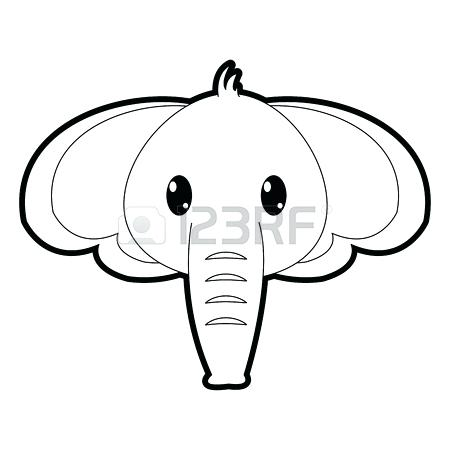 450x450 outline elephant light blue elephant clip art elephant outline