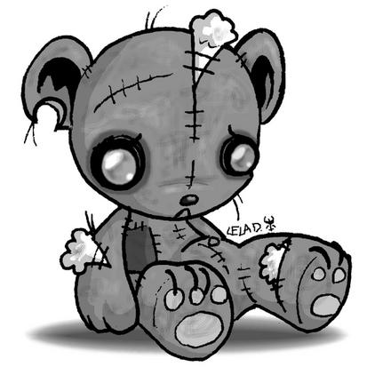 413x413 Super Cute Emo Teddy Bear Tattos I Like Or Want Teddy Bear