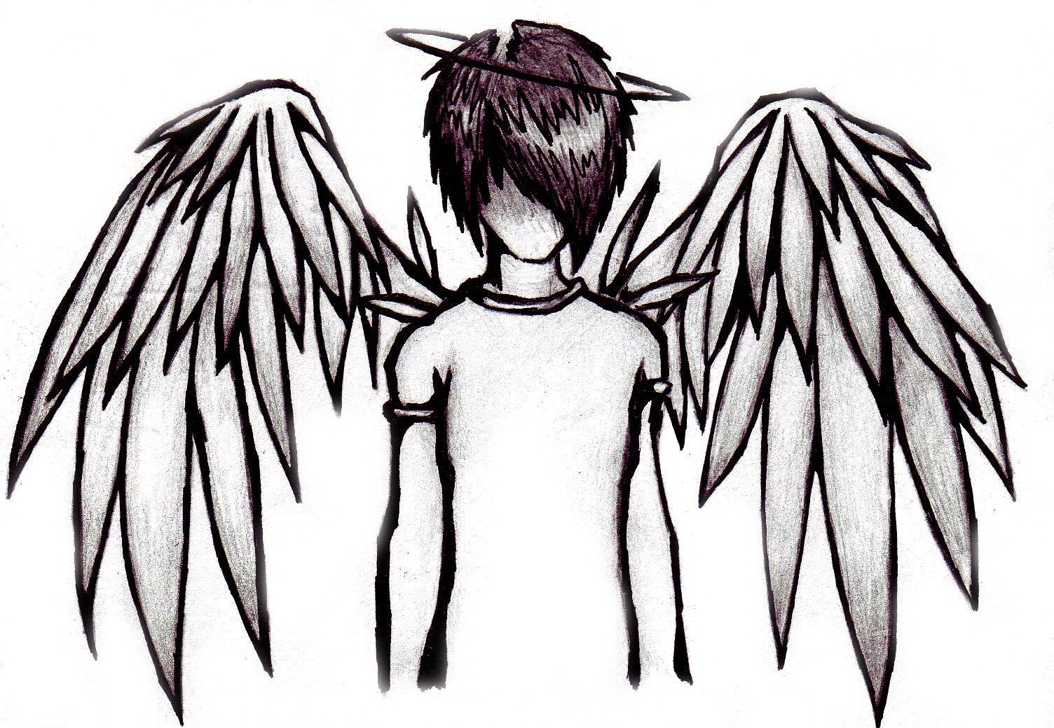 1504x1040 Boy Emo Angel Drawings