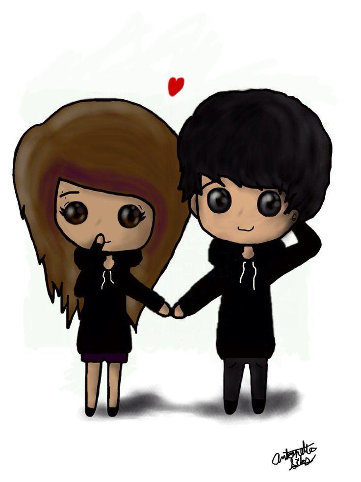 736x981 Couples Cute Cartoon Drawings Emo