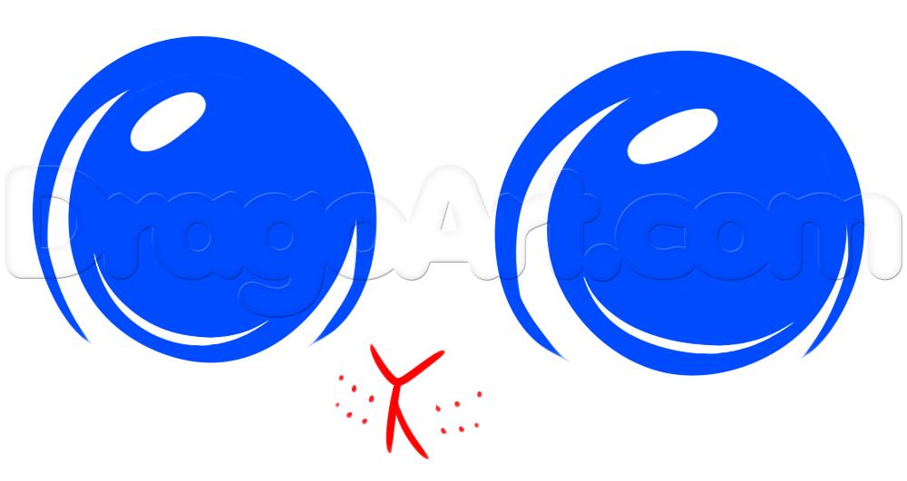 1000x531 Draw Cute Eyes, Step