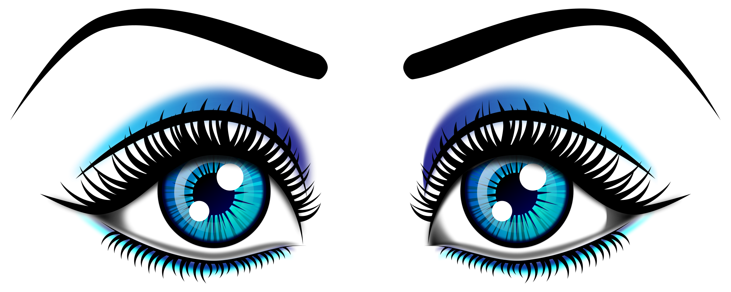 2400x960 Drawing Eyeballs Cute Transparent Png Clipart Free Download