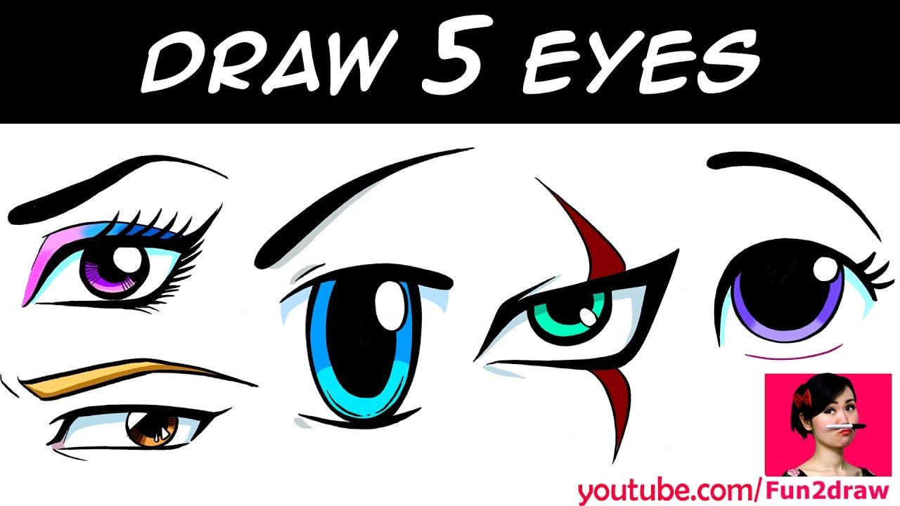 1280x720 Draw Cute Eyes Kids Youtube