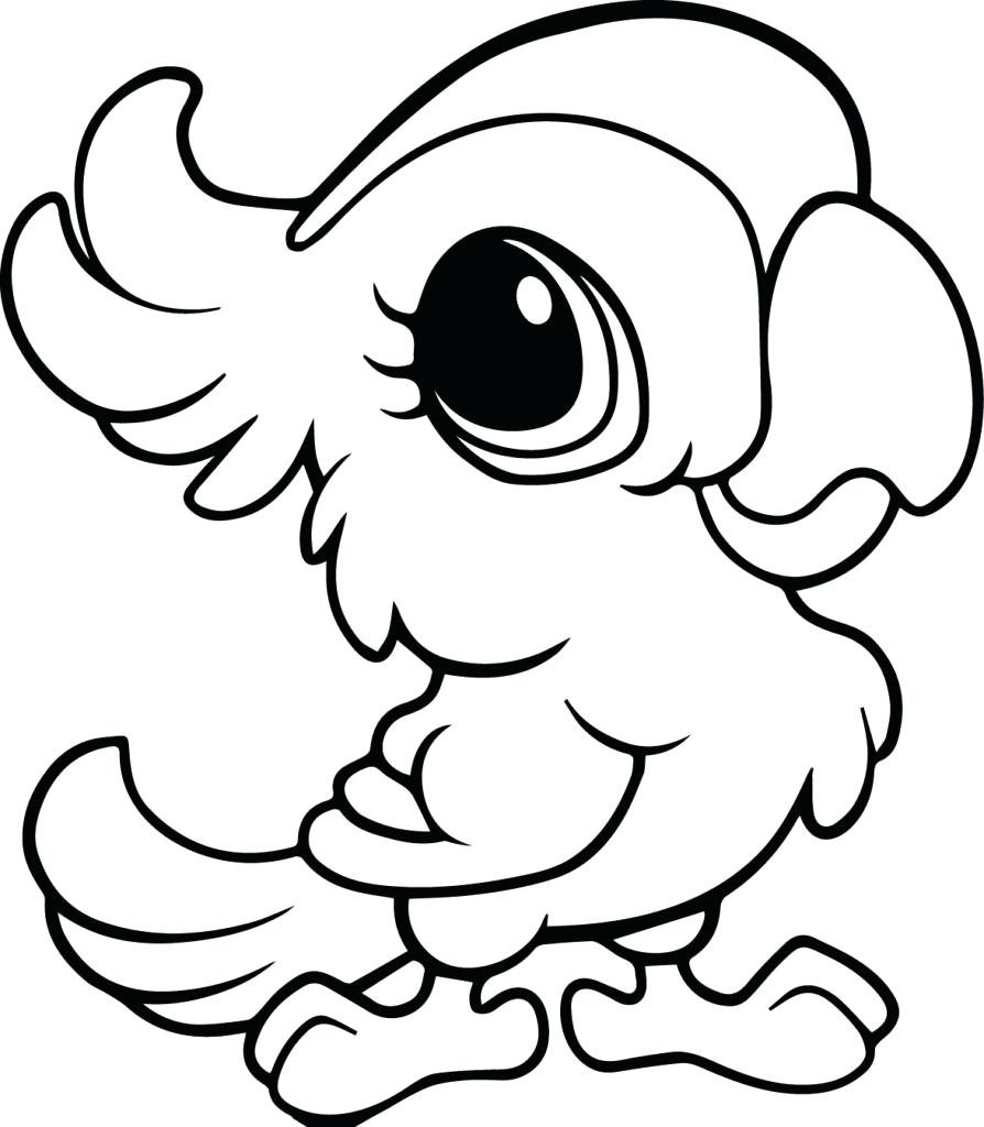 894x1024 Cute Cartoon Animals With Big Eyes Coloring Pages