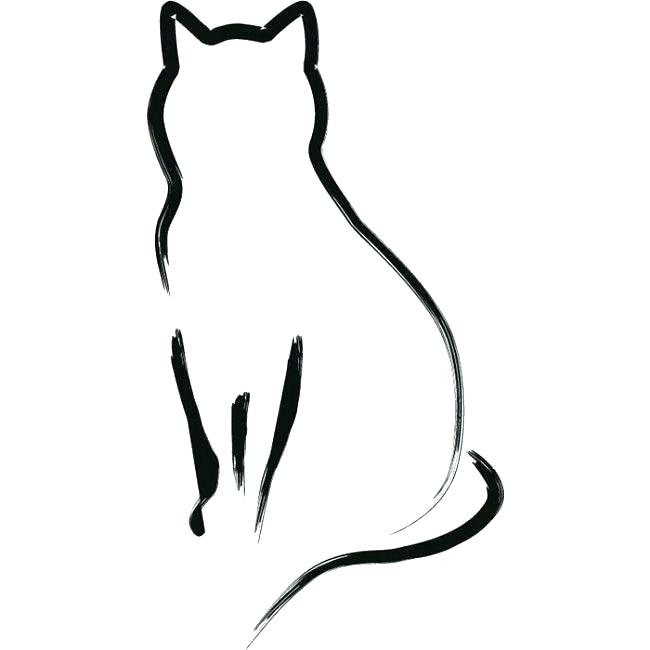 650x650 Dog Cat Outline Tattoo Free Coloring Pages Drawing