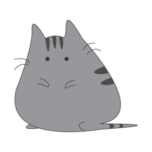 313x313 Drawn Cat Chubby
