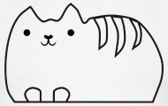 190x120 The Old Papermill Cute Happy Cat
