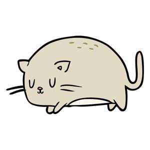 300x300 Cute Fat Cartoon Cat Royalty Free Stock Image