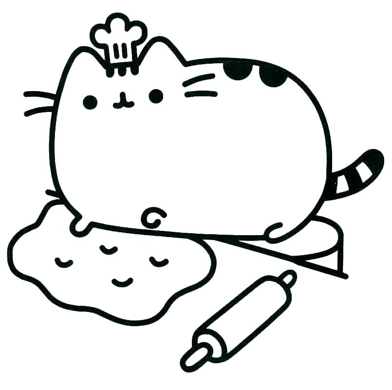 805x801 Printable Cute Cat Coloring Pages