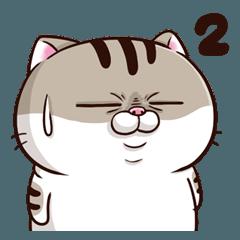 240x240 A Cute Little Cat Is So Fat En Line Stickers Line Store