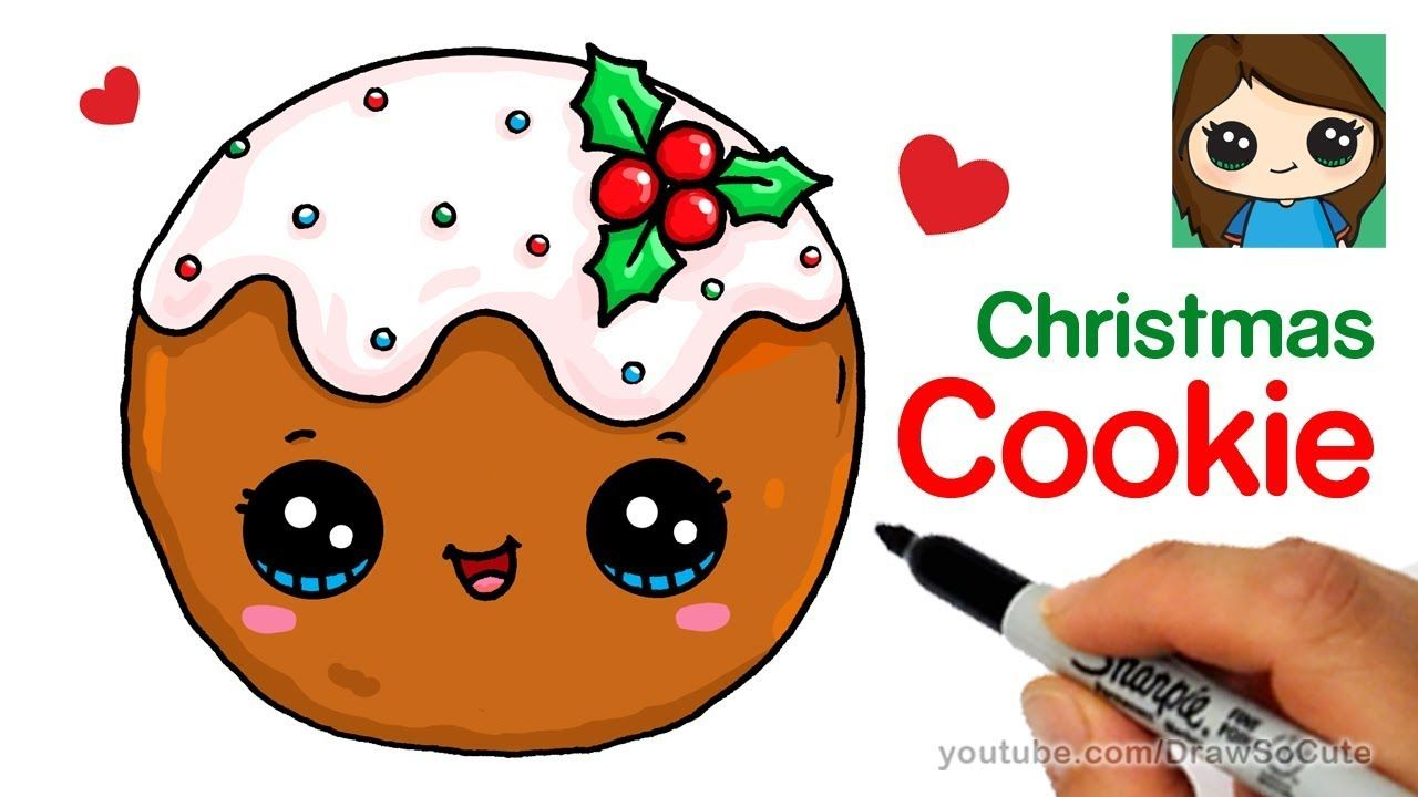 1280x720 How To Draw A Cookie For Christmas Easy