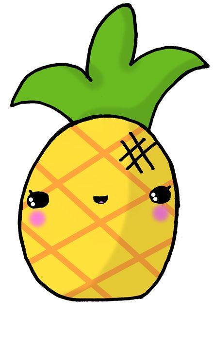 439x720 Kawaii Cute Pineapple Tropical