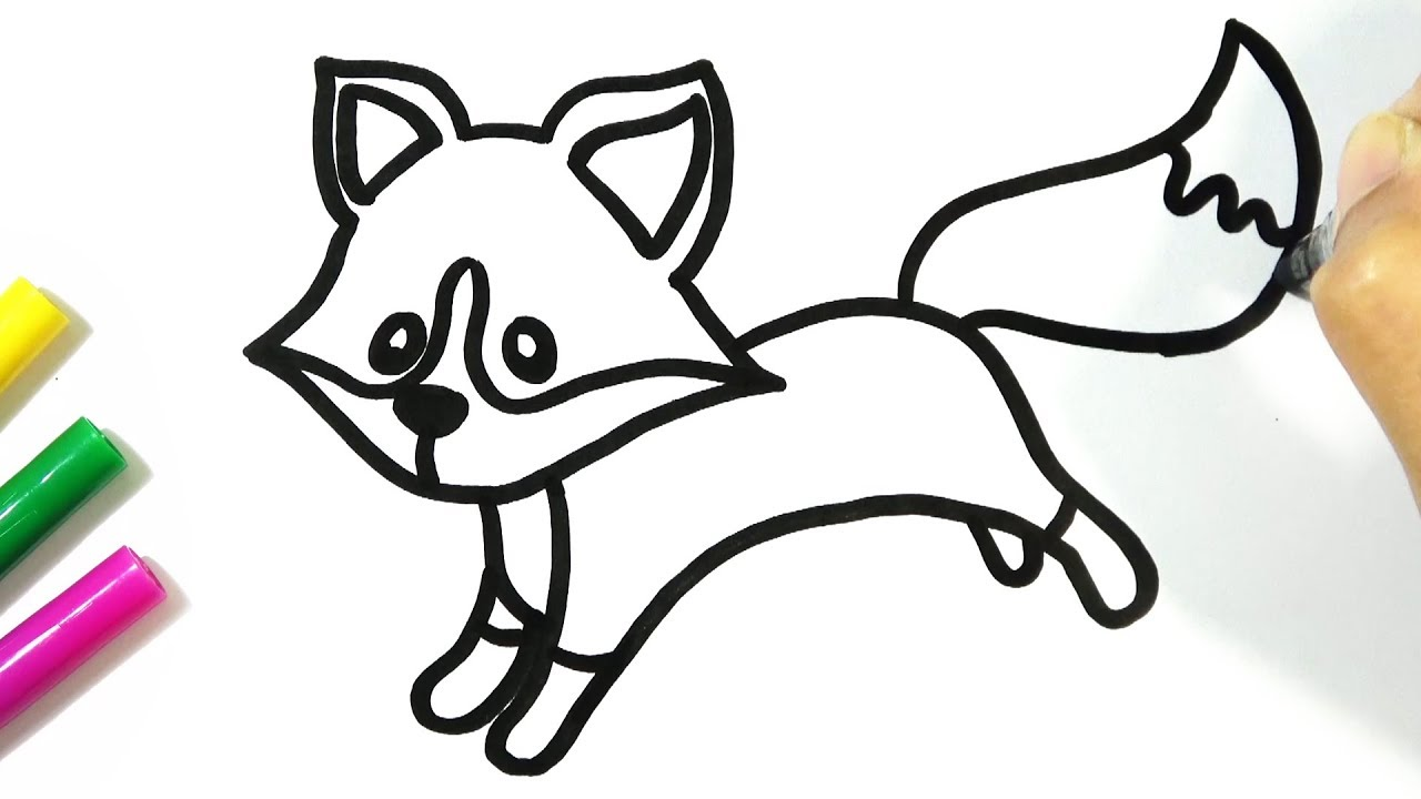 1280x720 How To Draw A Cute Fox Easy Hde