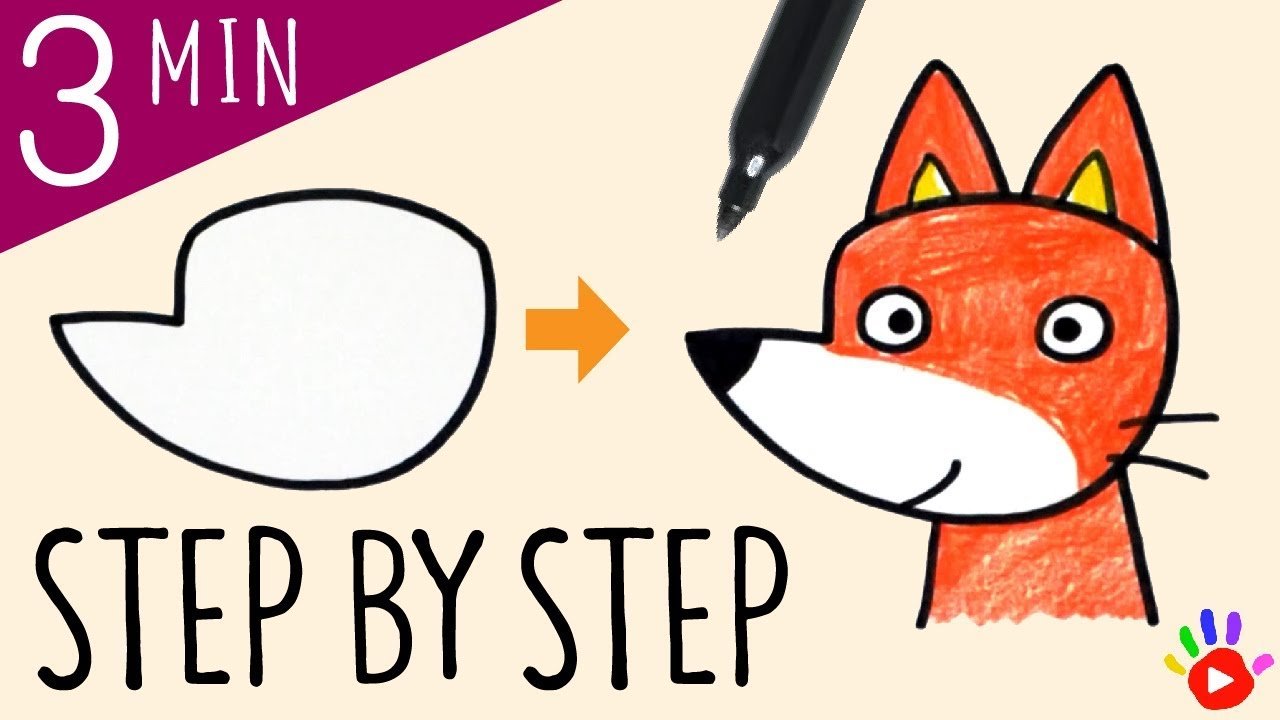 1280x720 How To Draw A Fox Drawing Cute Fox Animal Drawing Tutorial