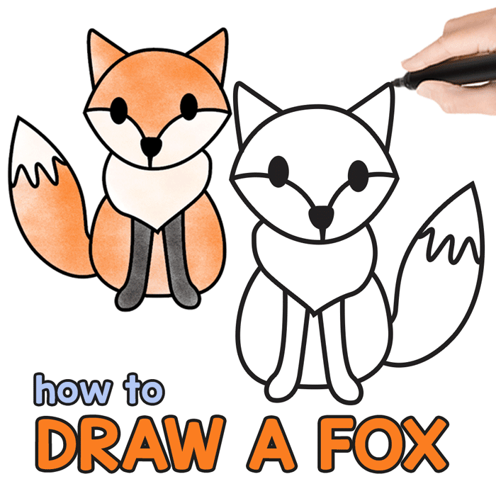 700x700 Huge Collection Of 'cartoon Fox Drawing' Download More Than