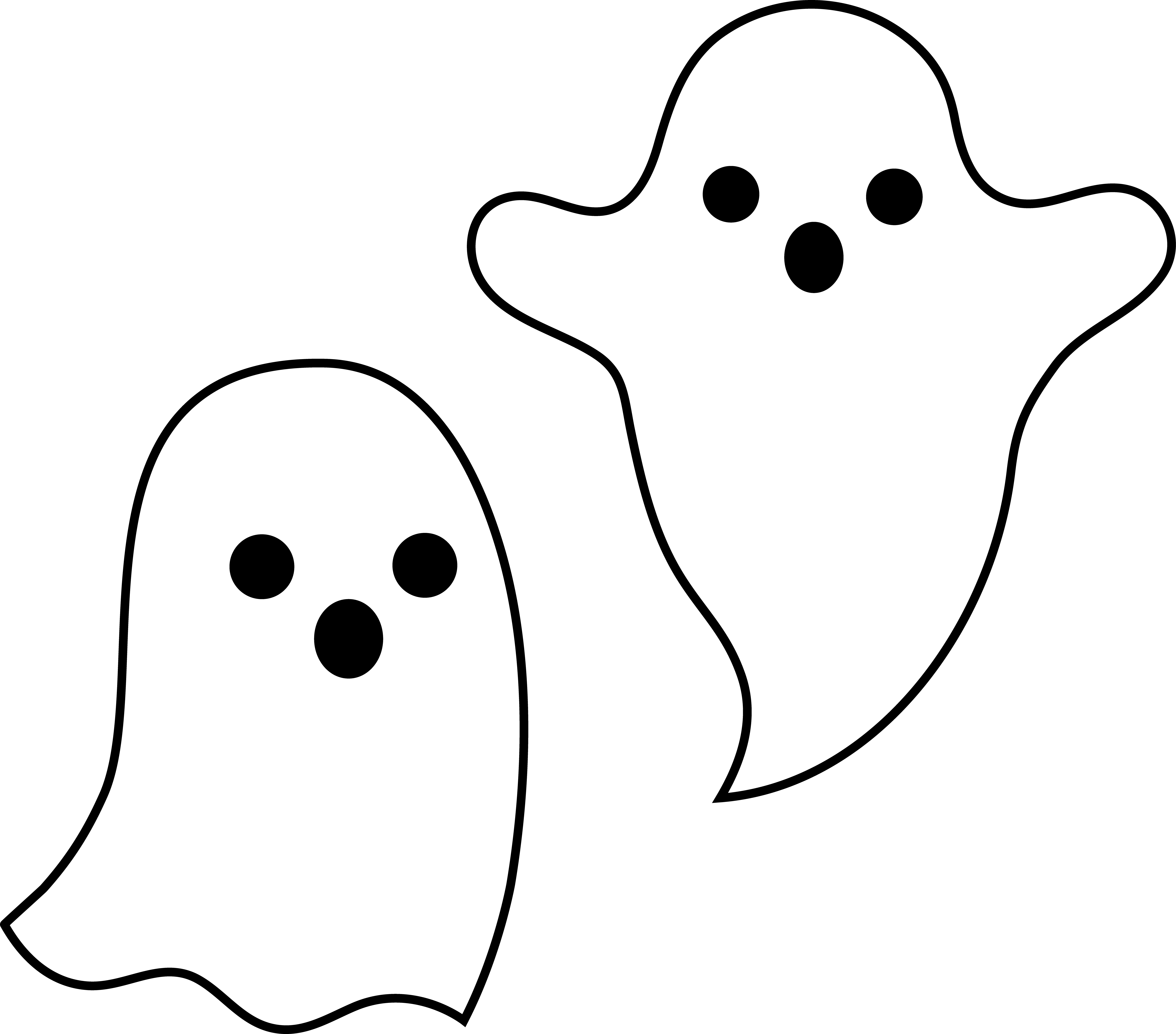 6766x5949 Easy Cute Ghost Drawing