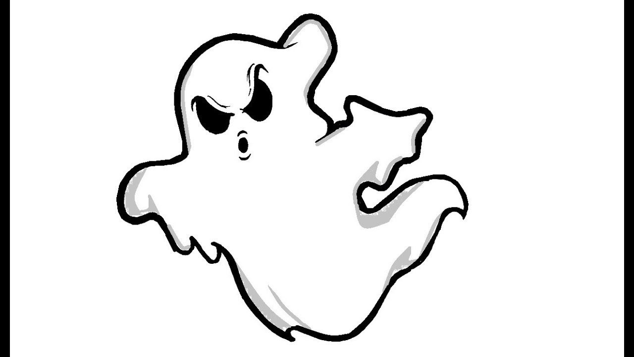 1280x720 Simple Way To Draw A Cute Ghost