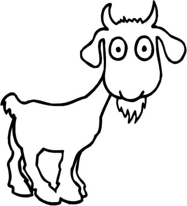 Cute Goat Drawing