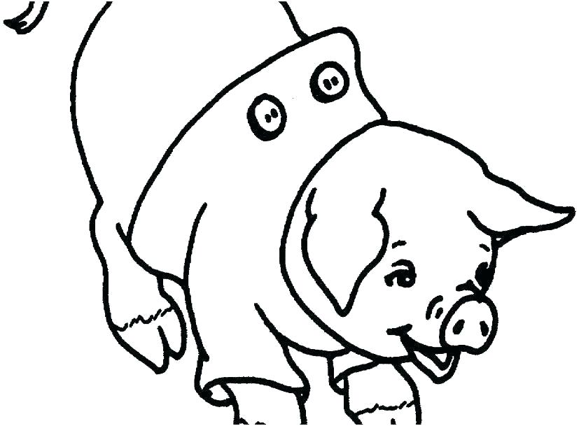 827x609 Coloring Pages Of Pigs Cute Pig Coloring Pages Coloring Pages