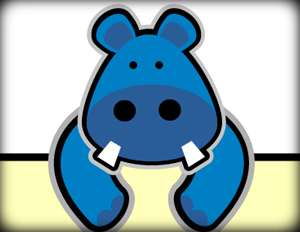 300x232 tutorial how to create a cute hippo character in vector character