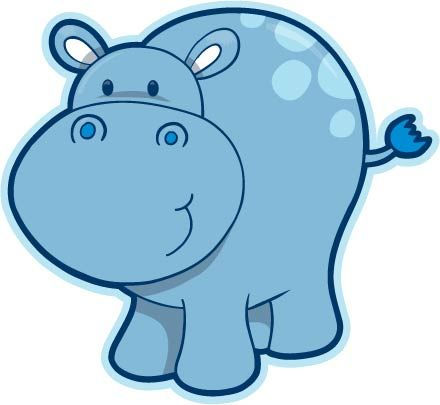 440x405 hippo! need a pink one too for my baby shower invites baby