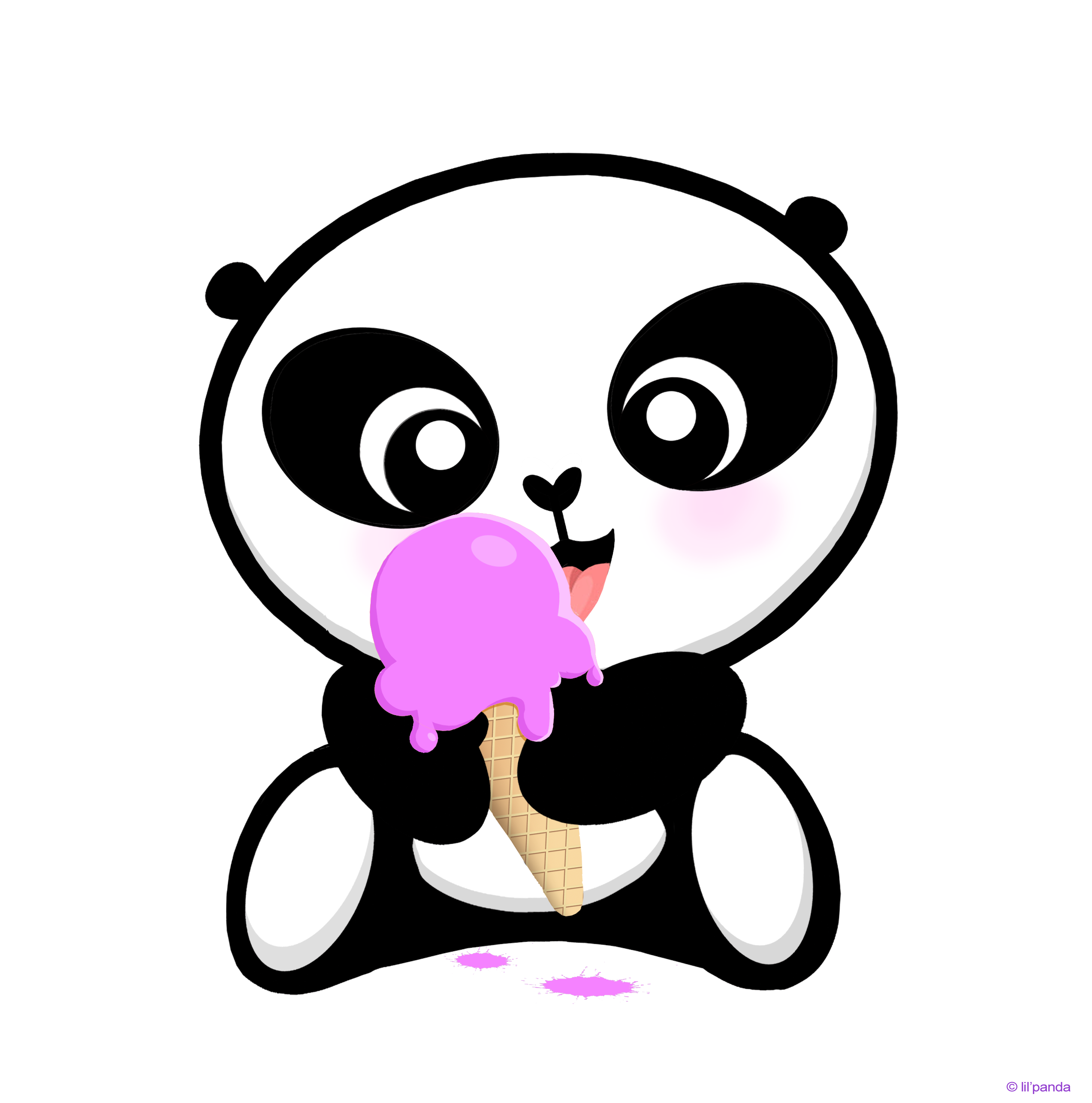 2546x2571 Drawing Pandas Ice Cream Transparent Png Clipart Free Download