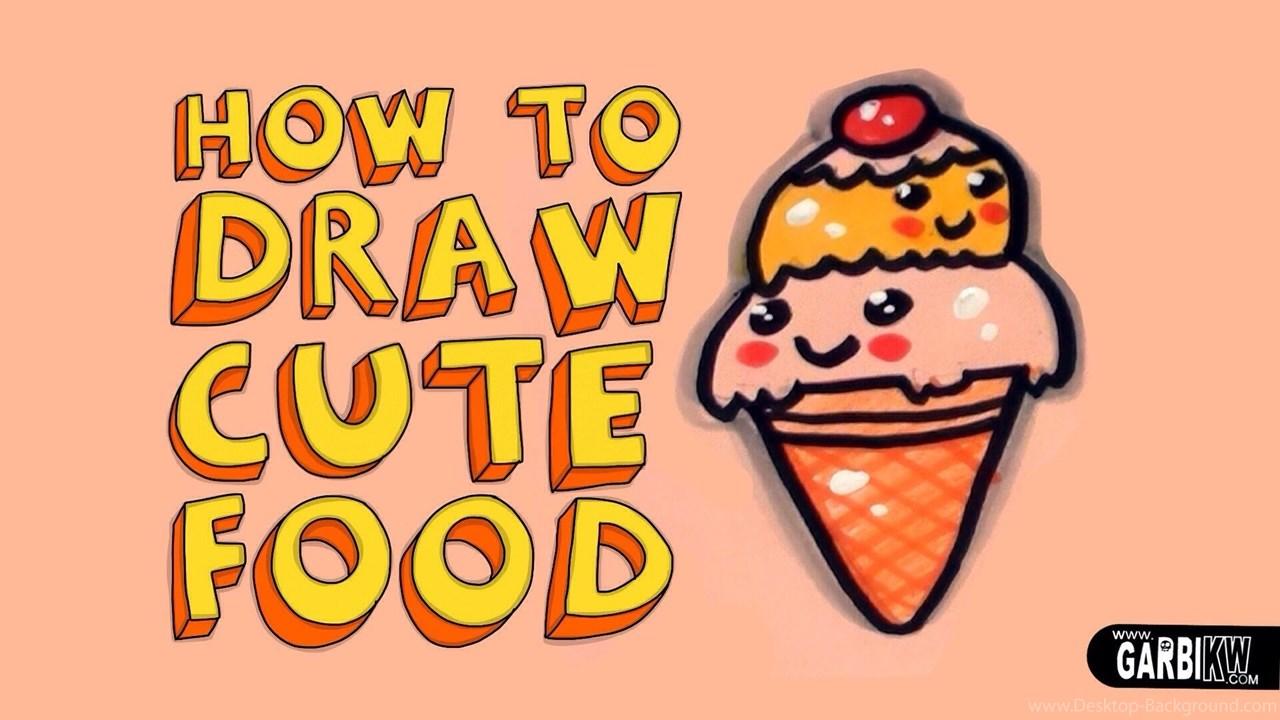 1280x720 How To Draw A Cute Ice Cream Kawaii Food Easy Drawings