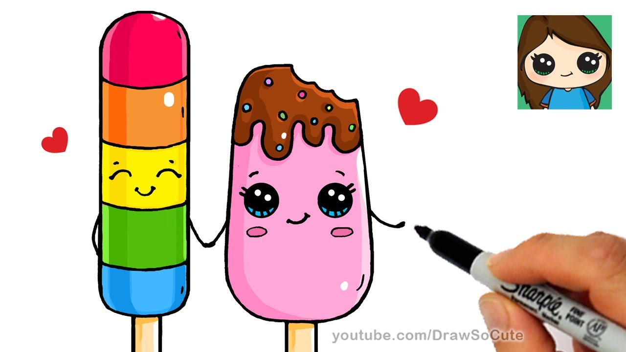 1280x720 How To Draw Popsicles Easy