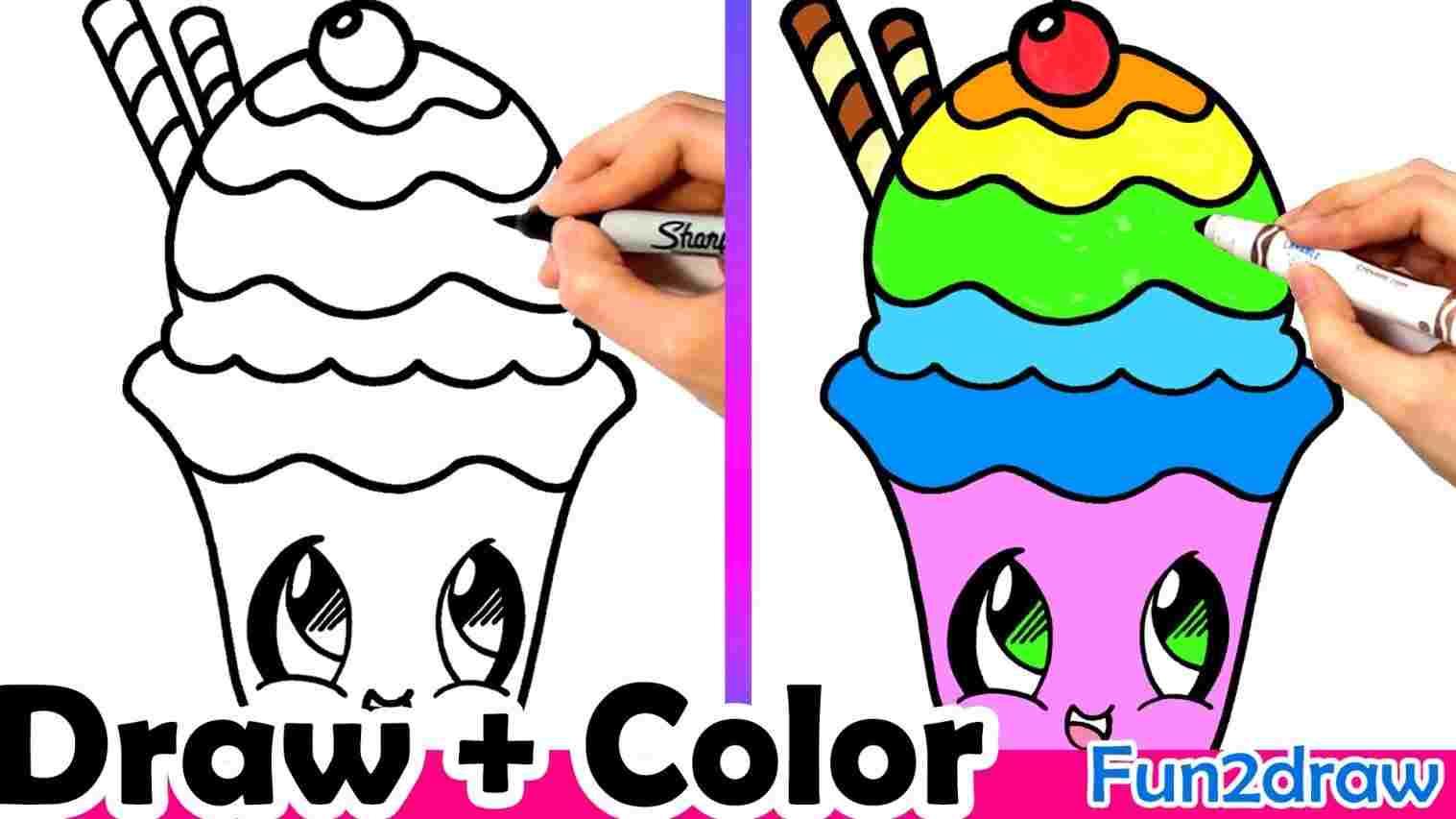1517x853 Draw A Cute Ice Cream Easy Cronkwii Ber On Crem Cone Esy Rhingcom
