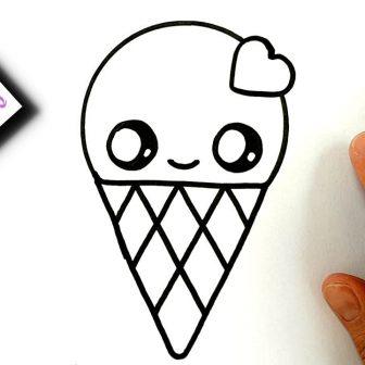 336x336 Cute Food Ice Cream Pig Draw Photos Step