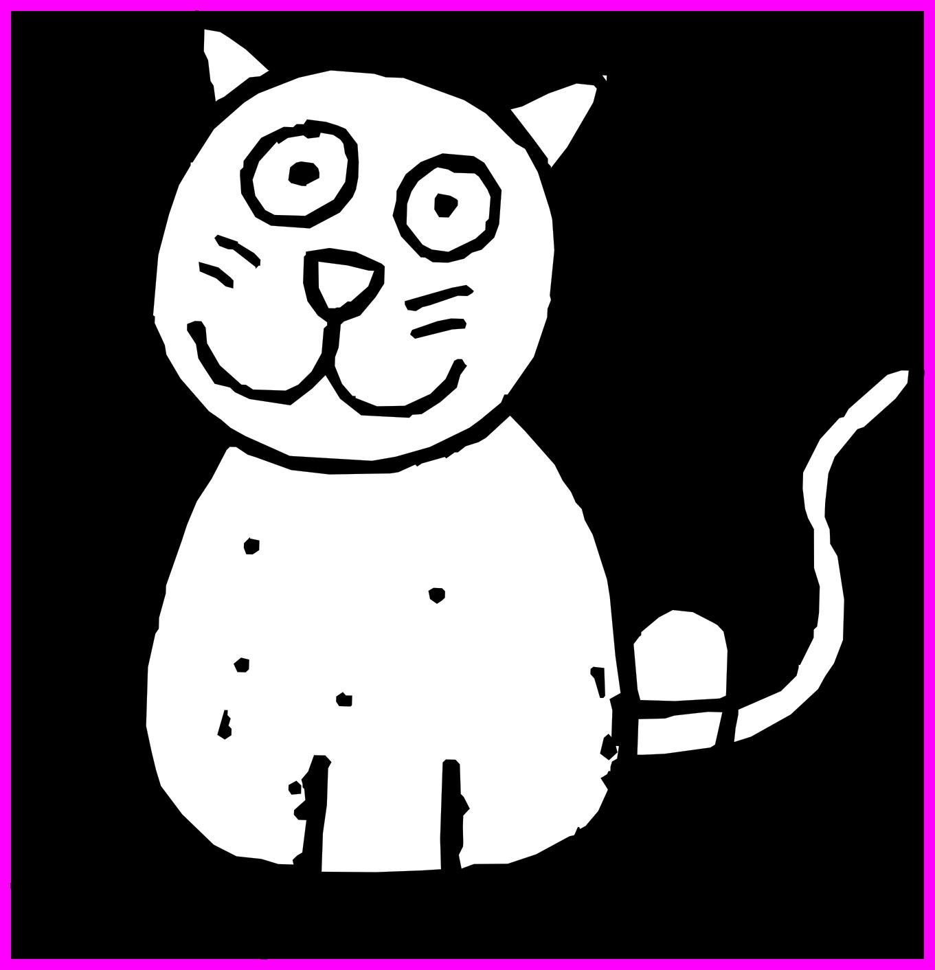 1361x1412 Kittens Drawing Tiny Kitten Huge Freebie! Download