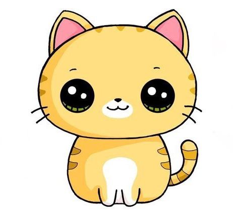 462x421 Cute Cat Clipart Kids In Kawaii Drawings, Cute Drawings