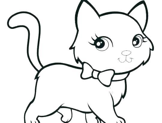 540x409 Drawing Of Kitten Cute Kitten Drawing Cute Kittens Drawings Kitten