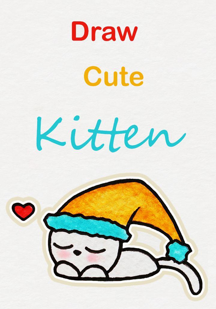 720x1028 Learn How To Draw So Cute Sleepy Kitten, Easy Step