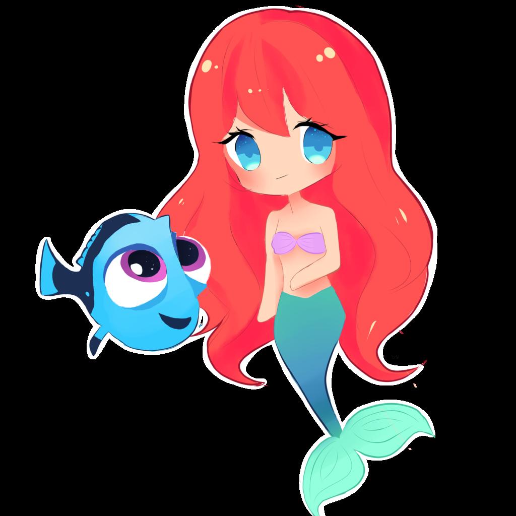 Cute Mermaid Drawings