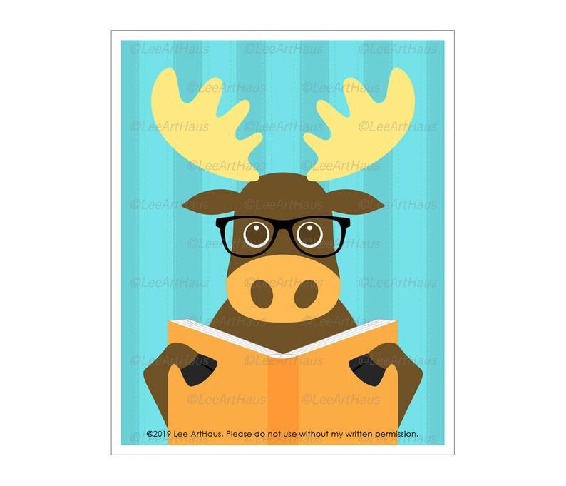 Cute Moose Drawing