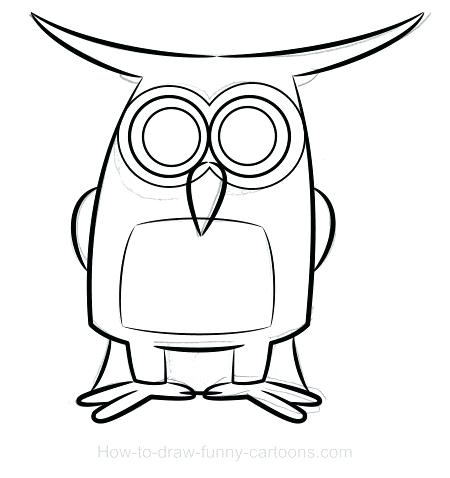 450x478 owl to draw how to draw an owl owl drawing cute